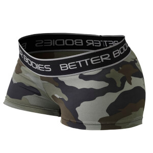 Better Bodies Fitness Hot Pants - Green Camoprint