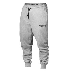 Better Bodies Tapered Joggers - Grey Melange