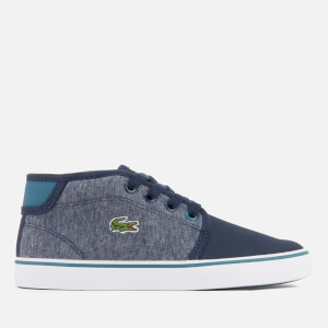 Lacoste Kids' Ampthill 317 1 Mid Top Trainers - Navy