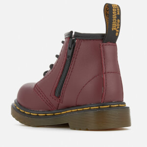 Dr. Martens Toddlers' Brooklee B Leather Lace Up Boots - Cherry Red: Image 4