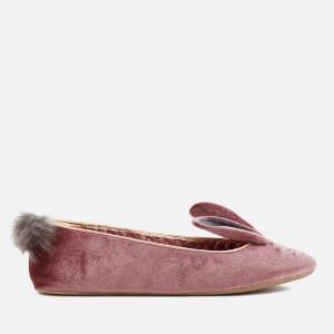Ted Baker Women's Bellamo Velvet Bunny Slippers - Pink