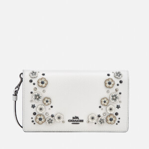 Coach Women's Foldover Appliqué Cross Body Bag - Chalk