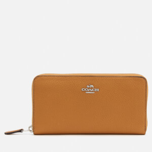 Coach Women's Accordion Zip Purse - Caramel