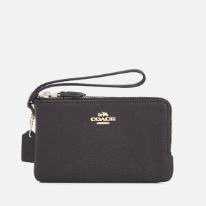 Coach Women's Double Corner Zip Purse - Black