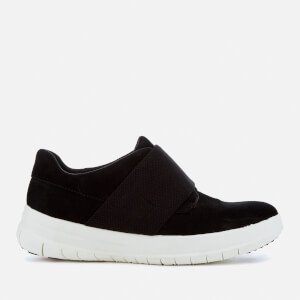 FitFlop Women's Suede Elastic Trainers - Black