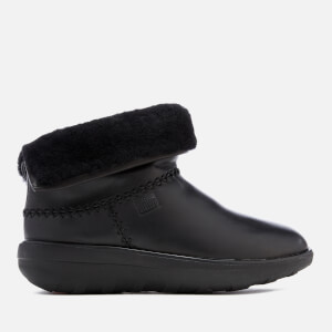 FitFlop Women's Mukluk Leather Shorty 2 Boots - Black