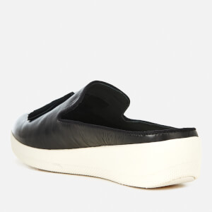 FitFlop Women's Superskate Slip-On Leather Flats - Black: Image 4