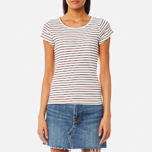Levi's Women's Vanessa Slim T-Shirt - Chip Marshmallow/Red