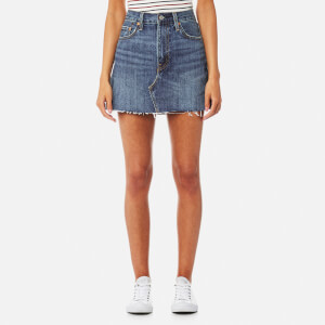 Levi's Women's Deconstructed Mini Skirt - War Torn Blues