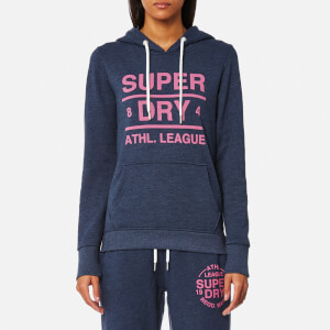Superdry Women's Athletic League Loopback Hoody - 90's Denim Marl