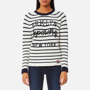 Superdry Women's Superdry Stripe Knitted Jumper - Navy