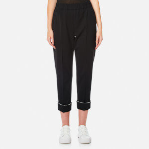 Alexander Wang Women's Ball Chain Cuff Track Pants - Onyx