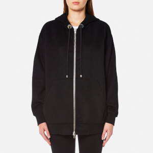 Alexander Wang Women's Oversized Zip Up Hoody - Onyx
