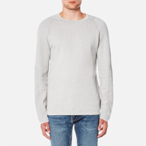 Helmut Lang Men's Waffle Stitch Long Sleeve Top - Grey