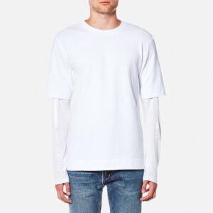 Helmut Lang Men's Vertical Logo Terry T-Shirt - White