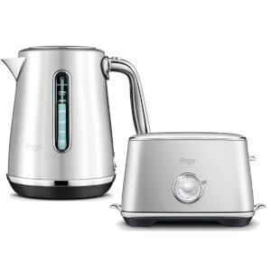 Sage by Heston Blumenthal BTA735BSS The Toast Select Luxe 2 Slice Toaster & Kettle- Brushed Stainless Steel