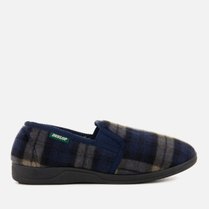 Dunlop Men's Amable Check Slippers - Navy
