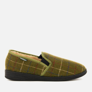 Dunlop Men's Amauri Check Slippers - Olive
