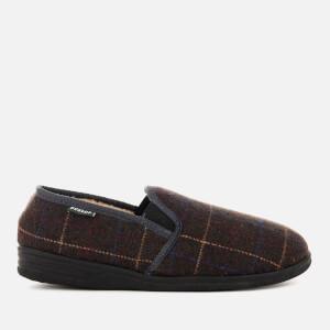 Dunlop Men's Amauri Check Slippers - Charcoal