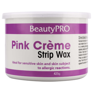BeautyPro Pink Creme Strip Wax Tin 425g