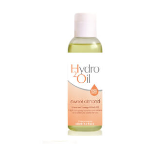 Caronlab Hydro2Oil Sweet Almond Unscented Massage And Body Oil 125ml