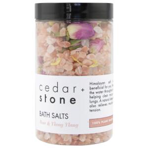 Cedar + Stone Rose + Ylang Ylang Bath Salts 330g