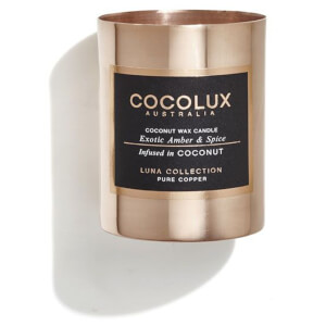 Cocolux Australia Copper Candle Luna Candle - Exotic Amber And Spice 150g