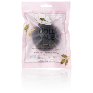 Doll Face Pretty Puff Bamboo Charcoal Cleansing And Exfoliating Sponge