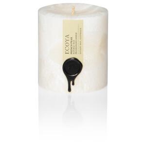 ECOYA French Pear Natural Small Pillar Candle