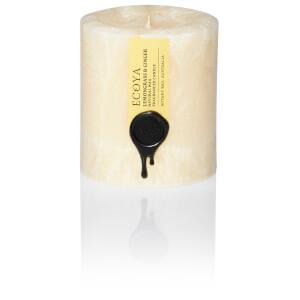 ECOYA Lemongrass And Ginger Natural Small Pillar Candle
