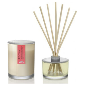 ECOYA Metro Jar Candle And Reed Diffuser Set - Guava & Lychee Sorbet
