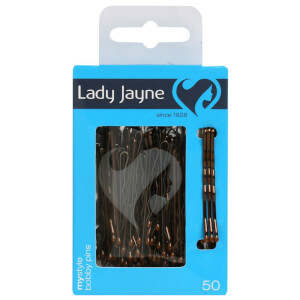 Lady Jayne Bobby Pins 4.5Cm Brown 50 Pack