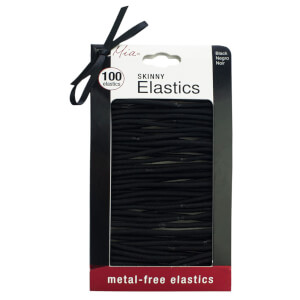 Mia Metal Free Black Elastics x 100