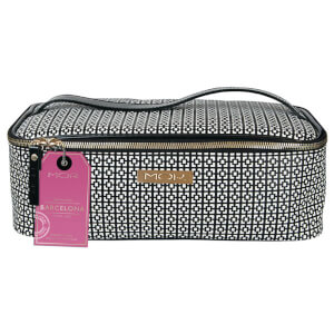 MOR Destination Barcelona Train Case - Black And White