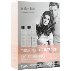 Nak Scalp To Hair Moisture-Rich Thinning Hair Intro Kit 3 x 100ml