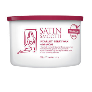 Satin Smooth Scarlet Berry Wax With Acai