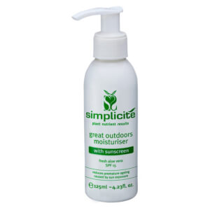 Simplicite Great Outdoors Moisturiser With Sunscreen SPF15 125ml
