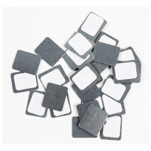 Z palette Square Metal Stickers - 30 Pack