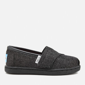 TOMS Toddlers' Seasonal Classic Glimmer Slip On Pumps - Black