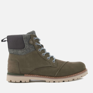 TOMS Men's Ashland Nubuck Lace Up Waterproof Boots - Tarmac Olive
