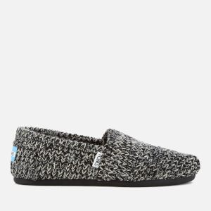 TOMS Women's Seasonal Sweater Knit/Faux Shearling Lined Slip On Pumps - Black