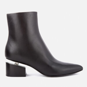 Alexander Wang Women's Jude Leather Heeled Ankle Boots - Black
