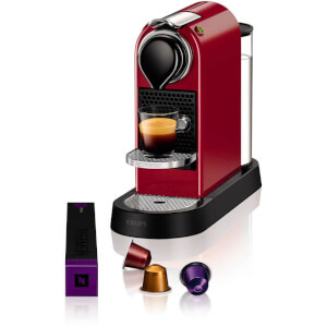 Nespresso by KRUPS XN740B40 Citiz Coffee Machine - Cherry Red