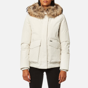 Woolrich Women's Military Bomber Jacket - White Igloo
