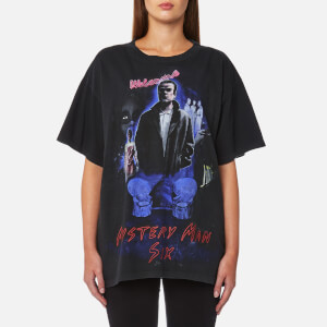 MM6 Maison Margiela Women's Vintage Wash Mystery Man T-Shirt - Black