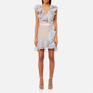 For Love & Lemons Women's Bowie Star Organza Dress - Dove Grey