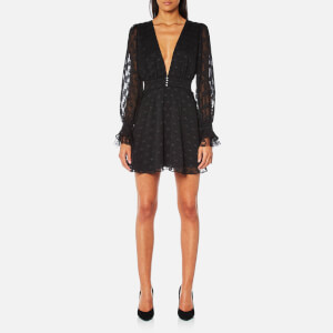 For Love & Lemons Women's Modern Love Long Sleeve Dress - Black Daisy