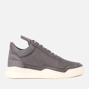 Filling Pieces Men's Ghost Lane Leather Low Top Trainers - Dark Grey