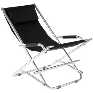 Premier Housewares Folding Garden Chair - Black