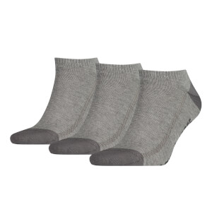 Levi's Men's 3 Pack Trainer Socks - Grey